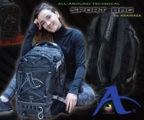 Arawaza Sports Bag, All-Around, Back Pack, black/grey