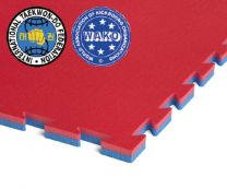 ProGame Tatami, Multisport Basic, 100x100x2.2cm, revers. red/blue