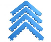 ProGame Corner-Kit for Multisport Basic, blue, 22mm,  4pcs