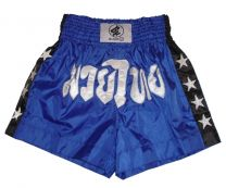 Thai Box Shorts, blue/black
