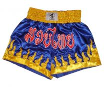 Thai Box Shorts, blue/yellow