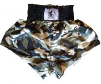 Thai Box Shorts, green camouflage