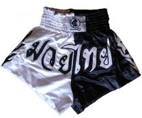 Thai Box Shorts, black/gold