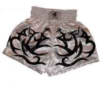 Thai Box Shorts, white/tribal